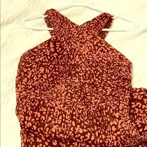J.Crew Collection Leopard Chiffon Dress